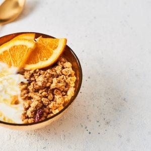 Citruscarpaccio med Golden-granola