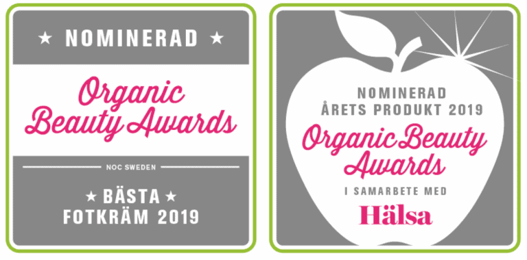 Dr Sannas nominerade Organic Beauty Award 2019