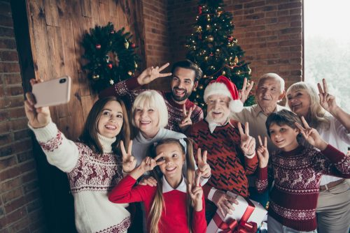 strålande hud i jul