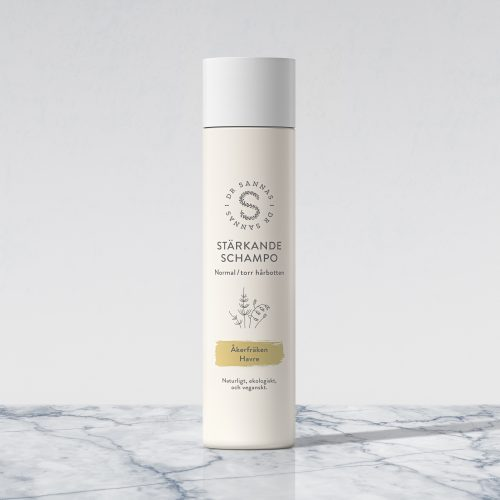 NYHET: Stärkande schampo för normal/torr hårbotten