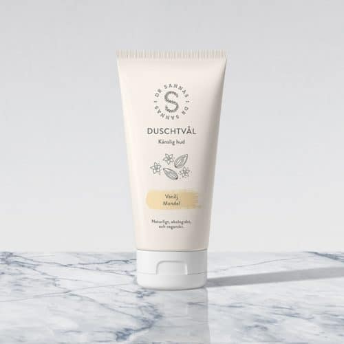 Duschtvål Vanilj/Mandel för känslig hud